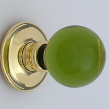 Green Balloon Glass Door Knob