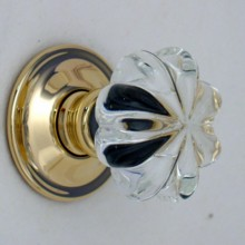 Clear Daisy Glass Door Knob