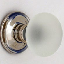 Clear Frosted Smooth Glass Door Knob
