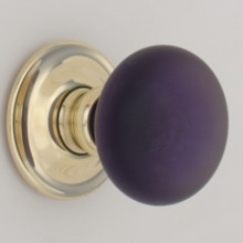 Purple Frosted Smooth Glass Door Knob