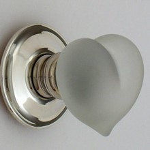 Clear Frosted Love Heart Glass Door Knob[[[[
