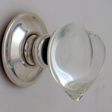 Clear Love Heart Glass Door Knob