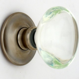 Clear Oval Glass Door Knob