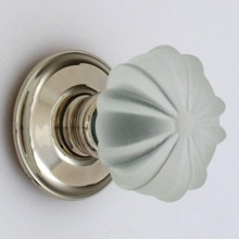 Frosted Ribbed Glass Door Knob
