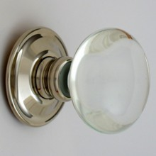 Clear Smooth Glass Door Knob