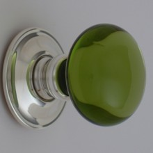 Green Smooth Glass Door Knob[[[[