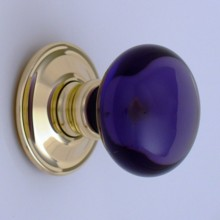 Purple Smooth Glass Door Knob