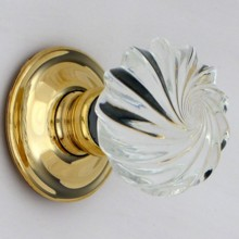 Clear Viennese Glass Door Knob