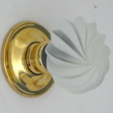 Frosted Viennese Glass Door Knob