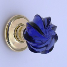 Purple Whirl Glass Door Knob[[[[