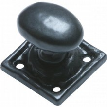 Antique Black Iron Cupboard Knob