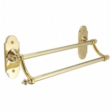 Constable Dual Bar Towel Rail on Backplate