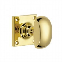 Half Round Door Knob on Square Rose