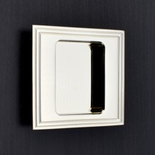 Square Flush Pull - Reeded Edge