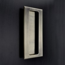 Rectangular Flush Pull - Reeded Edge