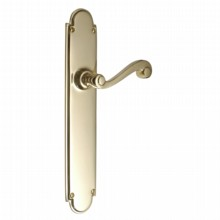 Victorian Scroll Door Handle on Latch Backplate[[[[