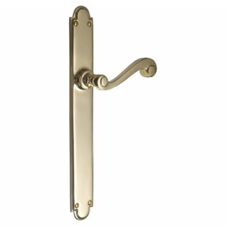 British Made Victorian Door Handle on Backplate