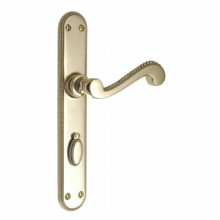 Georgian Door Handle on Lock Plate[Georgian Bathroom Door Handle with Bathroom Turn[[[