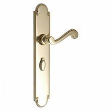 Georgian Door Handle on Lockplate[Georgian Door Handle on Bathroom Plate[[[