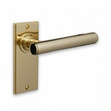 Contemporary Door Handle on Plate[[[[