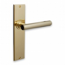Modern Door Handle on Lockplate[[[[