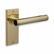 Modern Door Handle on Latchplate[[[[