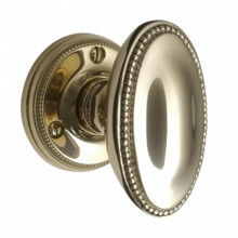Georgian Oval Door Knobs on Round Rose[[[[