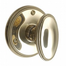 Georgian Oval Door Knob on Round Rose[[[[