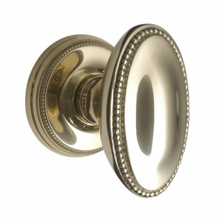 Oval Georgian Door Knobs on Covered Rose