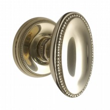 Oval Georgian Door Knobs on Covered Rose[[[[