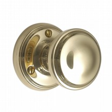 Constable Door Knob on Round Rose