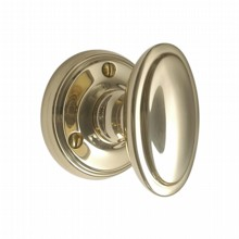 Victorian Oval Door Knob on Round Rose[[[[