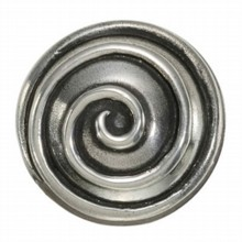 Swirl Pewter Door Knob on Rose